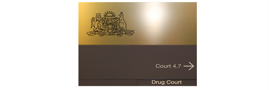 Drug Court door sign