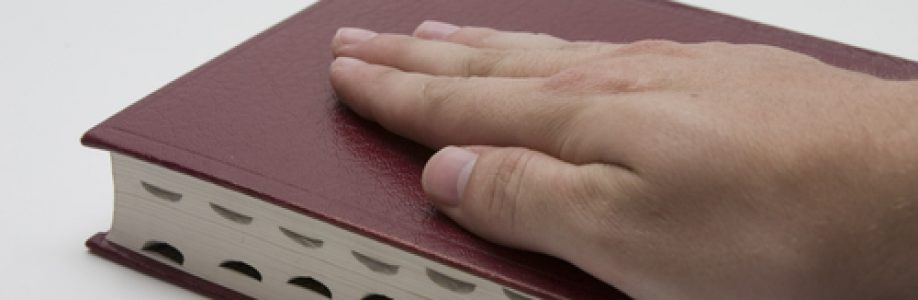 Hand on the Bible and testify